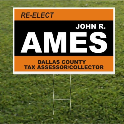 John R. Ames yardsign