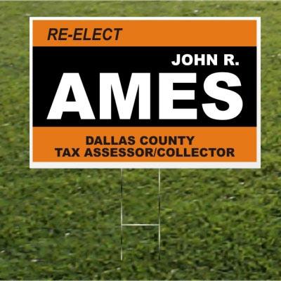 John R. Ames yardsign